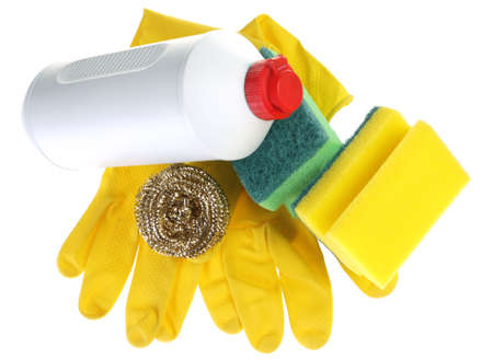 accesories: Accesories for wash dish on white background