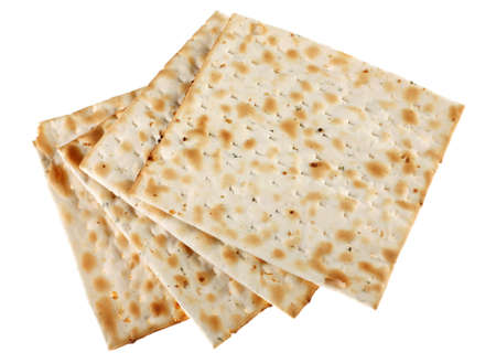 Unleavened bread traditiona isolated on white background Stock Photo - 2851717