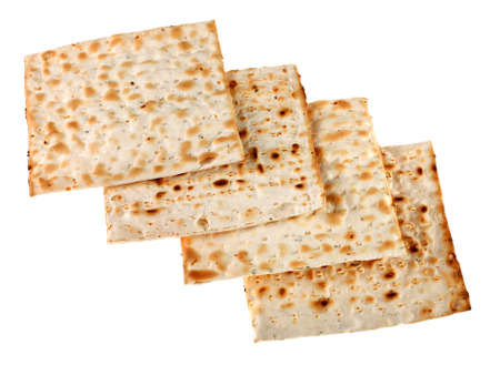 unleavened: Unleavened bread traditional isolated on white background