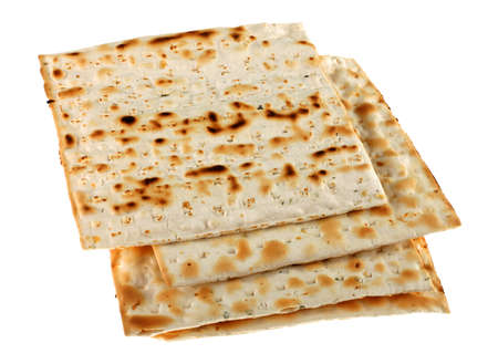 Unleavened bread traditional isolated on white background Stock Photo - 4371989