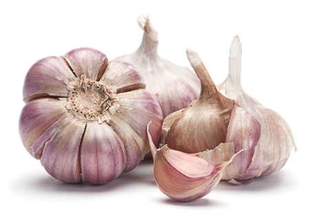 garlic: Garlic vegetable closeup isolated on white background
