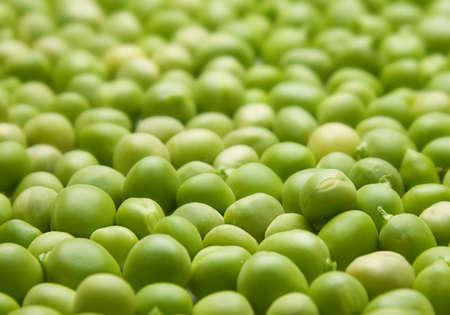 Piselli freschi semi vegetali closeup vista