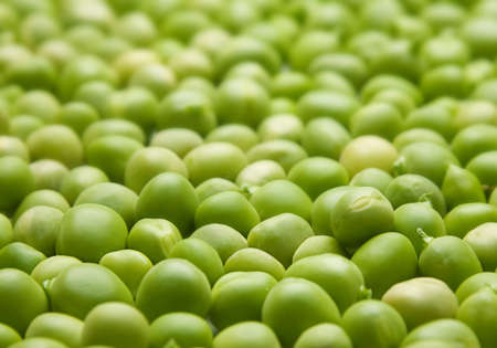 Verse groene erwten zaad plantaardige close-up weergave Stockfoto