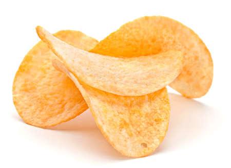 Bereid aard appel chips snack close-up weergave