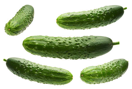 Cucumber set isolated on white background