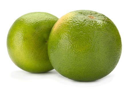Pomelit hybrid pomelo and greapefruit isolated on white background