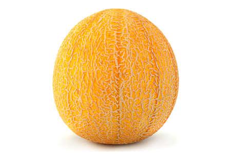Melon sweet fruit closeup isolated on white background