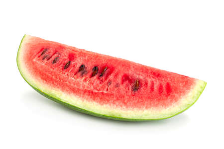 Oval watermelon closeup isolated on white