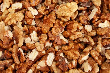 Walnut nut closeup detail horizontal