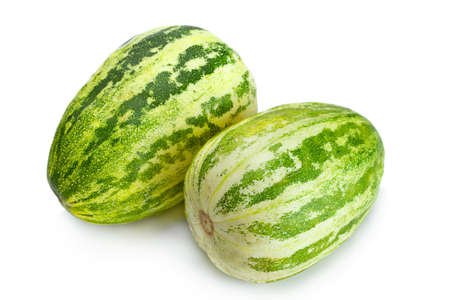 Melon cucumber fruit  isolated on white