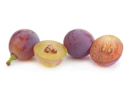 Grape Lydia closeup isolated on white