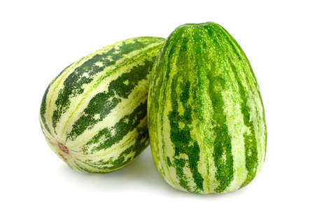 Melon  fruit  isolated on white