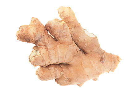 Ginger spice root isolated on white