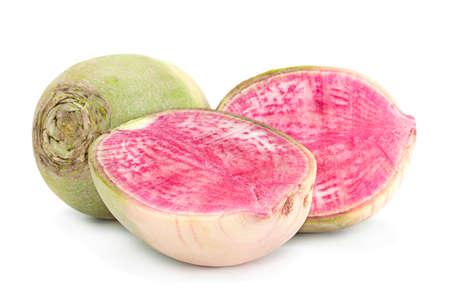 Watermelon radish closeup isolated on white Reklamní fotografie