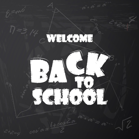 Vector illustration of Back to school background Vettoriali