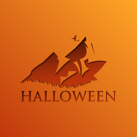 Halloween Party Invitation Flyer. Editable Vector illustration