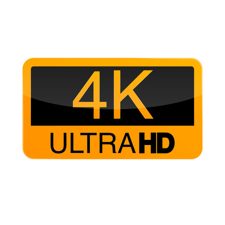 Logo 4K Ultra HD. Ilustração do vetor do vídeo 4K
