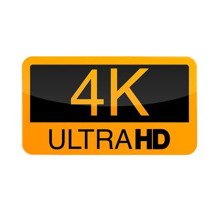 Logo 4K Ultra HD. Vector illustration of 4K video. Фото со стока - 94021534
