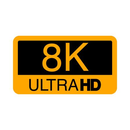Logo 8K Ultra HD. Vector illustration of 8K video.