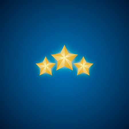 Golden Star vector. Christmas Stars. Isolated badge for website or app - stock infographics