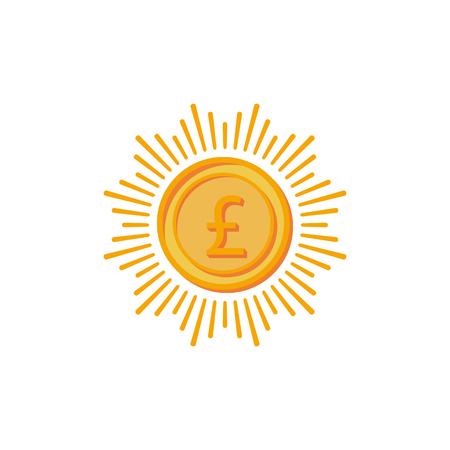 Monetary signals bitcoin, dollar, yen, British franc, Euro.