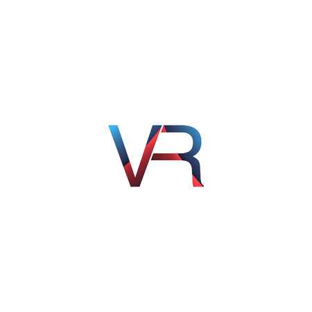 VR company linked letter logo. Innovation device