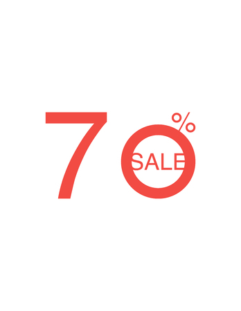 Sale Red Tag Isolated Vector Illustration. Discount Offer Price Label, Vector Price Discount Symbol. Illustration