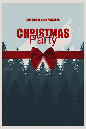 Party Brochure Template | Christmas Party Brochure Template An Elegant Christmas Invitation