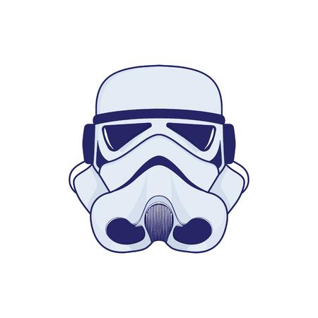 Logo of space helmet.Colour stylistics Vector illustration.  イラスト・ベクター素材