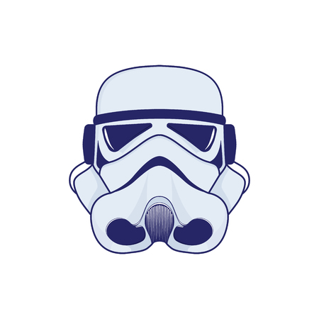 Logo of space helmet.Colour stylistics Vector illustration. Vectores