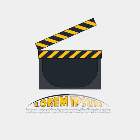 Clapperboard icon design. Art design camera lens for design and illustrations. Vector vintage illustration.