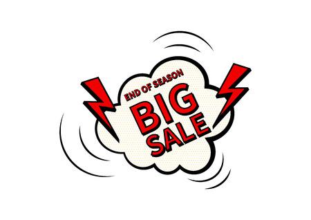 Big Sale. Final sale poster or flyer design. Sale on colorful background. Vector illustration