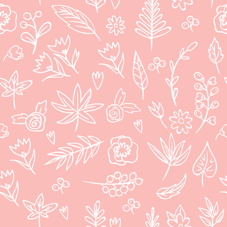 Floral seamless Texture. Bright background, summer theme seamless pattern. Vector wallpaper, summer texture, wrapping with flowers, spring and summer theme for your design Illustration