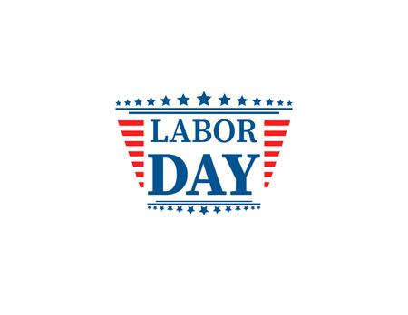 Winken der amerikanischen Flagge mit Typografie Labor Day, 7. September, Vereinigte Staaten von Amerika, American Labour Day Design. Schöne USA Flagge Zusammensetzung. Labor Day Poster Design