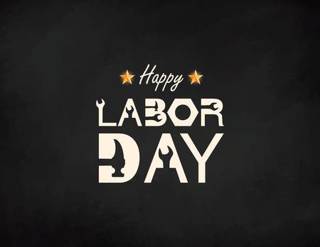 Banner de feliz día del trabajo. Plantilla de diseño. Ilustración vectorial