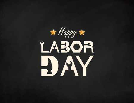 Happy Labor Day banner. Design template. Vector illustration 向量圖像