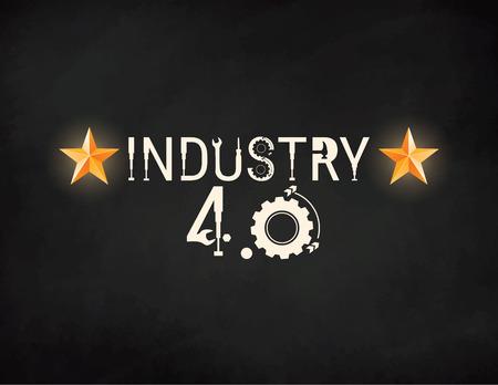 New Industrial Revolution. New Industrial Revolution. Industry 4.0 banner: smart industrial revolution, automation, robot assistants, iot cloud and bigdata Ilustração Vetorial