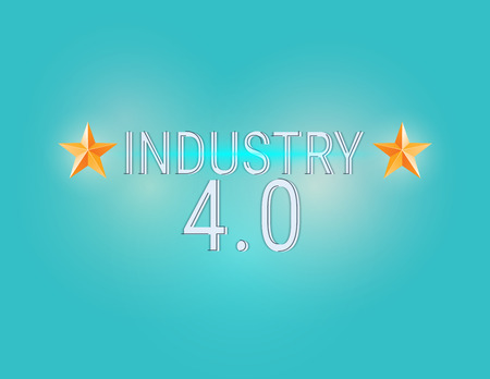 New Industrial Revolution. New Industrial Revolution. Industry 4.0 banner: smart industrial revolution, automation, robot assistants, iot cloud and bigdata