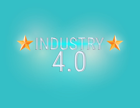 New Industrial Revolution. Industry 4.0 banner: smart industrial revolution, automation, robot assistants, iot cloud and bigdata