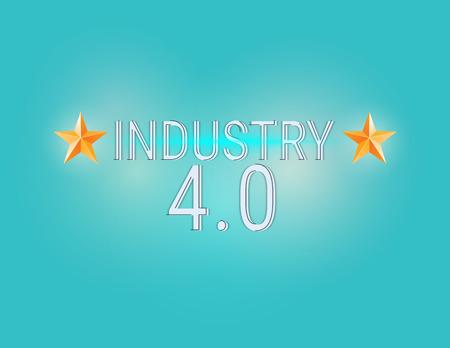 New Industrial Revolution. Industry 4.0 banner: smart industrial revolution, automation, robot assistants, iot cloud and bigdata Ilustração Vetorial