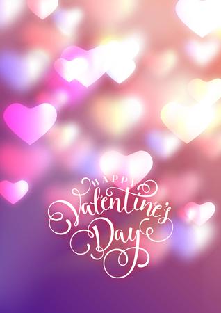 Herzen als Hintergrund. Valentinstag-Konzept. Vektor-Illustration