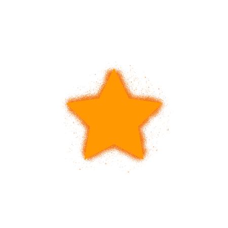 Star Icon, Trendy flat favorite design, yellow star - Vector illustration