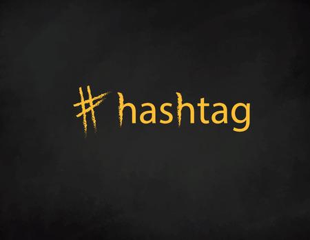 Hashtag Blackboard . Trendy design for young slang words. Vector illustration Ilustração