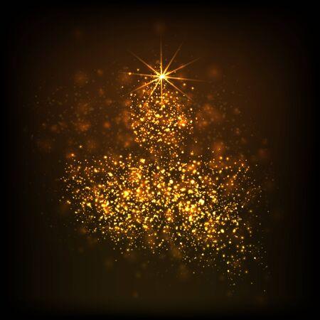 Website header or banner design with oil lamp consisting of stars on a dark background for Diwali Festival celebration. - Vector illustration