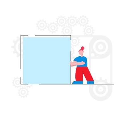Vector illustration, performance teamwork brainstorming - Vector Standard-Bild - 134738128