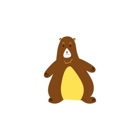 Cute bear. Animals illustration. Animal print - Vector illustration