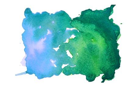 Blue-green watercolor spot
