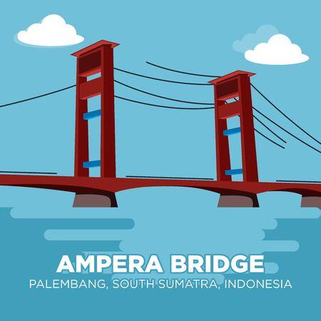 Ampera Bridge is a vertical-lift bridge in the city of Palembang, South Sumatra, Indonesia.
