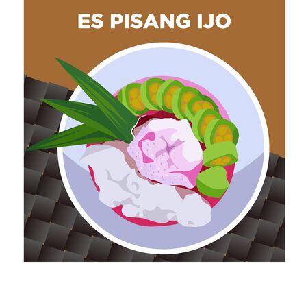 ES PISANG IJO INDONESIAN TRADITIONAL DRINKS AND FOOD FROM MAKASSAR INDONESIA MADE OF BANANA