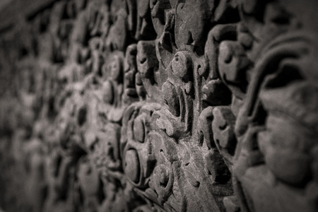A carved stone from ancient Mesopotomia up close. Stock fotó
